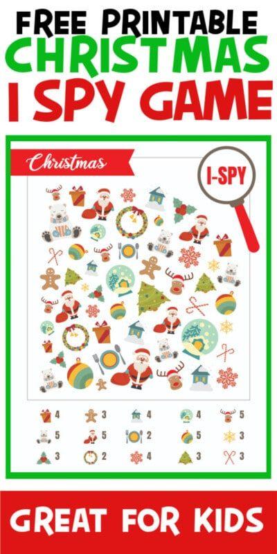 Trò chơi i-Spy Giáng sinh có thể in miễn phí