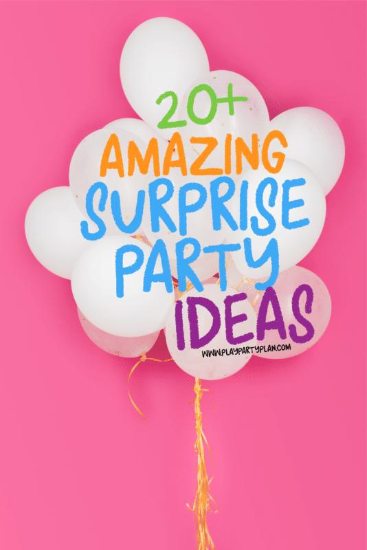 Ideas fáciles para fiestas sorpresa y juegos para fiestas sorpresa imprimibles