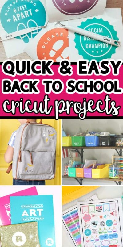 16 projets créatifs de retour à l'école à réaliser avec votre Cricut