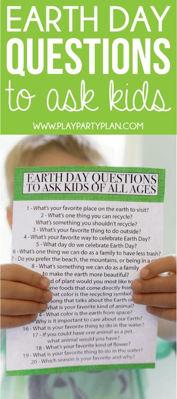 Εκτυπώσιμες ερωτήσεις για τη γη για παιδιά