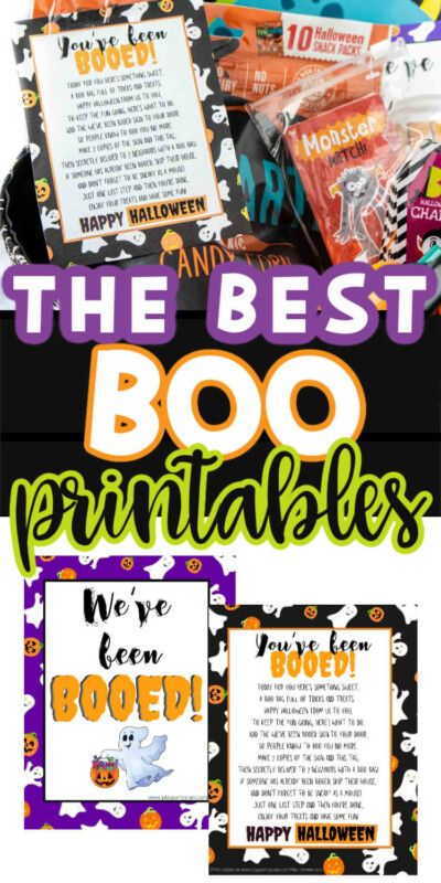 Printable You've Been Booed Signs og Halloween Boo Ideas