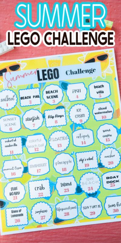 Idées imprimables de défi Lego d'été