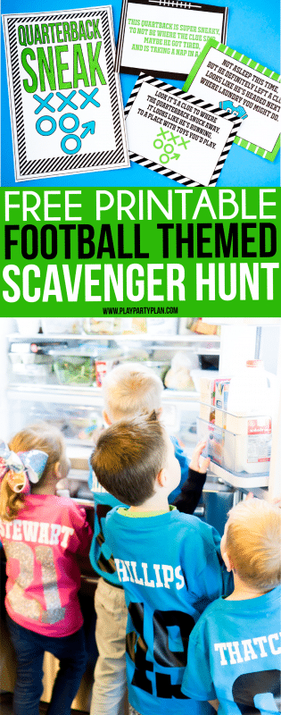 Quarterback Sneak Football Scavenger Hunt for Kids