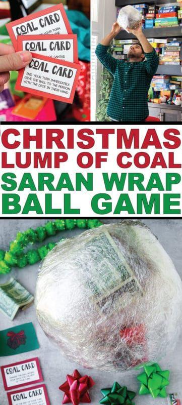 कोयला क्रिसमस सरन लपेटें खेल की गांठ