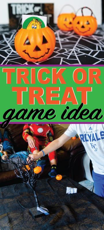 Linksmas Helovino medžio triukas ar skanėstas