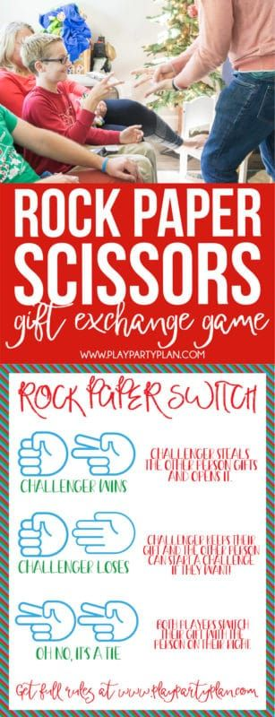 Rock Paper Scissors Switch Juego de intercambio de regalos