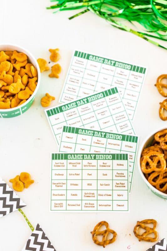 Tarjetas de bingo de fútbol para imprimir gratis