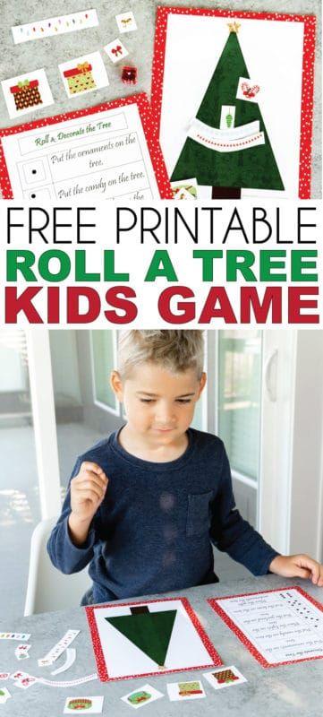 Ücretsiz Yazdırılabilir Yılbaşı Ağacı Zar Oyunu