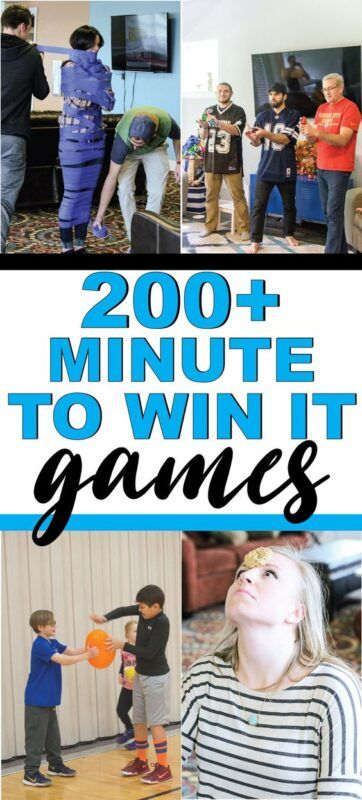 200+ Minute to Win It Games para niños y adultos