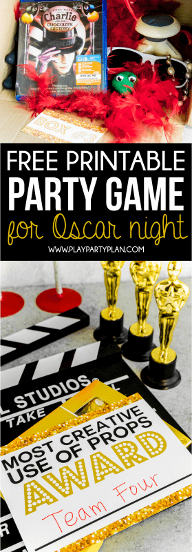 Volite ove zabavne ideje za Oscar party! Zabavna igra filma out of the box zvuči jako zabavno!