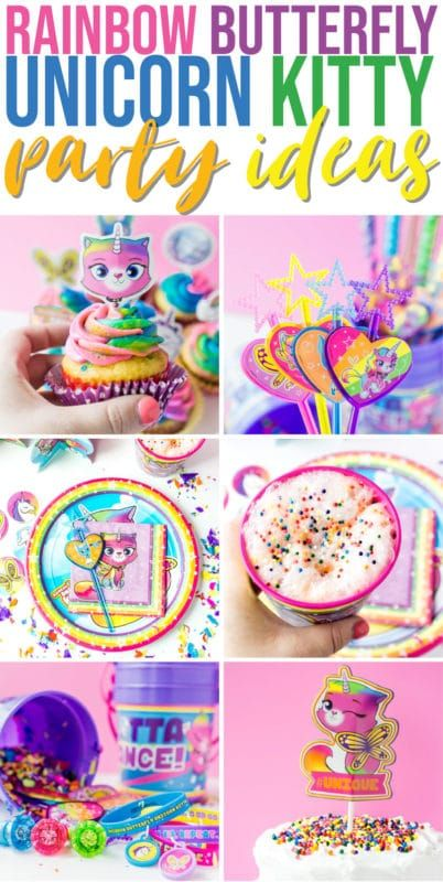 Rainbow Butterfly Unicorn Kitty Party Ideje