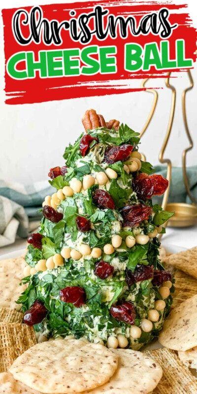 Bola de queso de árbol de Navidad