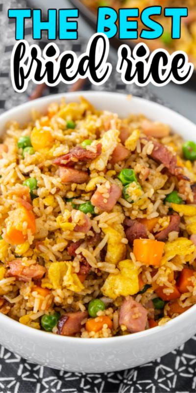 Receta fácil de arroz frito con jamón