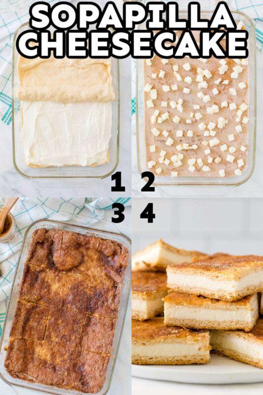 Receta de tarta de queso con Sopapilla