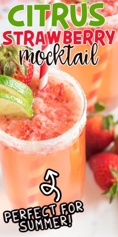 Recette de cocktails sans alcool aux agrumes et aux fraises