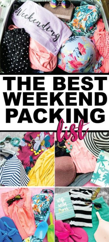 Ultimate Weekend Packing List